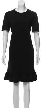 Emilio Pucci Short Sleeve Knee-Length Dress Black Short Sleeve Knee-Length Dress