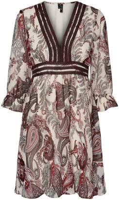 Vero Moda Isabella Paisley-Print A-Line Dress