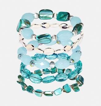 Avenue Facted Bead Stretch Bracelet Set