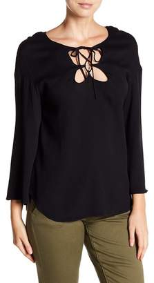 Frame Lace-Up Blouse