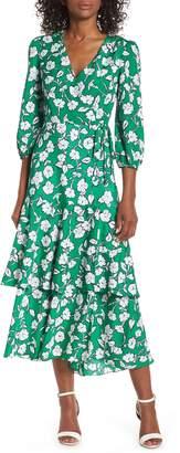 Eliza J Asymmetrical Faux Wrap Maxi Dress
