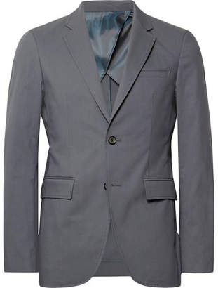 Solid Homme Anthracite Slim-Fit Stretch Cotton-Blend Suit Jacket