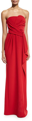 Armani Collezioni Strapless Tech Cady Gown, Red $1,895 thestylecure.com