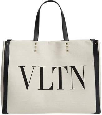 Valentino Canvas VLTN Tote Bag