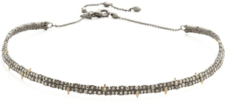 Alexis Bittar Spike Accented Choker Necklace $255 thestylecure.com