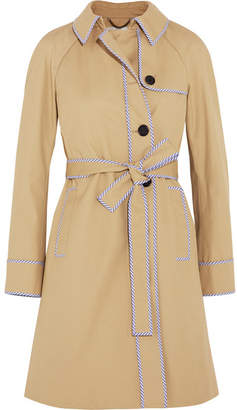J.Crew - Hawthorne Stripe-trimmed Cotton-twill Trench Coat - Beige $350 thestylecure.com