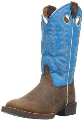 Justin Boots Kids' Chocolate Buffalo Bent Rail Western