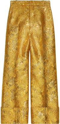 Gucci Floral brocade trousers
