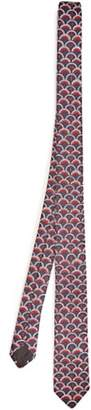 Valentino Scale Logo Jacquard Silk Twill Tie - Mens - Red Multi