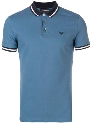 Emporio Armani logo embroidered polo shirt