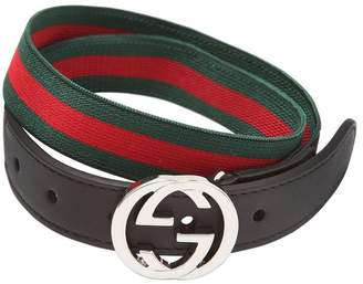 Gucci Elastic Belt With Leather Details