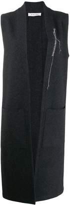 Falke long-line wool sleevegilet
