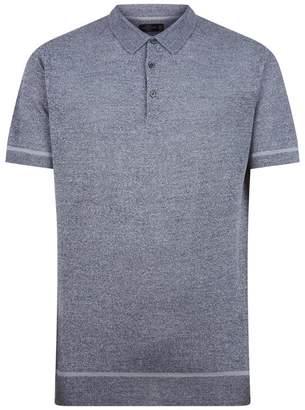 Corneliani Linen-Silk Knit Polo Shirt
