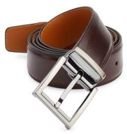Saks Fifth Avenue COLLECTION BY MAGNANNI Wind Burgundy Leather Belt
