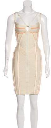 Herve Leger Printed Bandage Dress w/ Tags Orange Printed Bandage Dress w/ Tags
