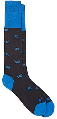 Barneys New York Men's Skull-Pattern Knee Socks