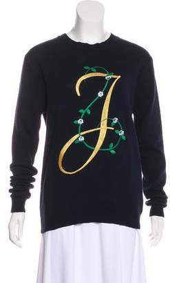 Opening Ceremony Embroidered Long Sleeve Sweater