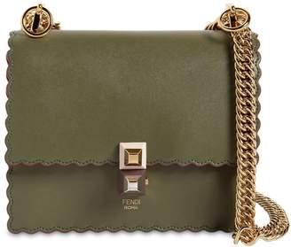 Fendi Small Kan I Scalloped Leather Bag