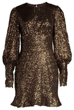 Alice + Olivia Misha Collection Brielle Sequin Mini Dress