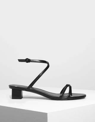Charles & Keith Criss Cross Low Heel Sandals