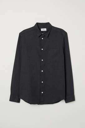 H&M Linen Shirt - Black