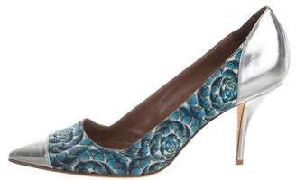 Tabitha Simmons Printed Pointed-Toe Pumps