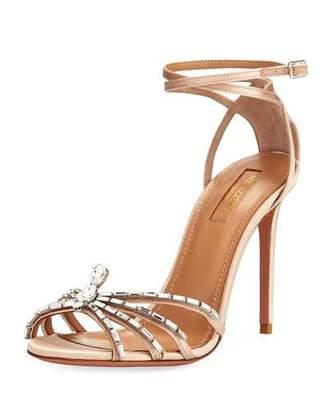 Aquazzura 105mm Ankle-Wrap Spider Sandal