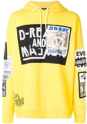 Diesel stitched patch hoodie
