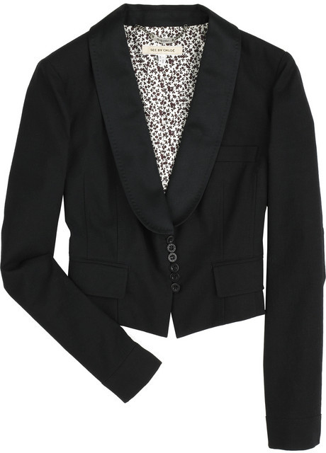 See by Chloé Cropped wool jacket