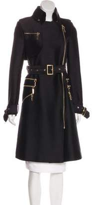 Thomas Wylde Silk-Blend Long Coat