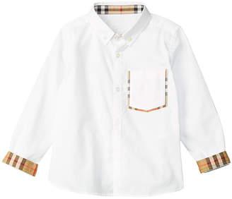 Burberry Check Detail Woven Shirt