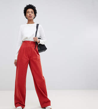 Asos Tall DESIGN Tall wide leg trouser with corset waist
