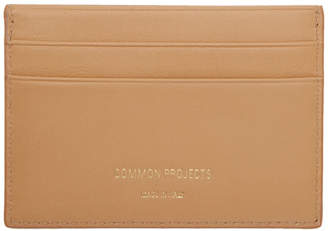 Common Projects Woman by Tan Leather Multi Card Holder