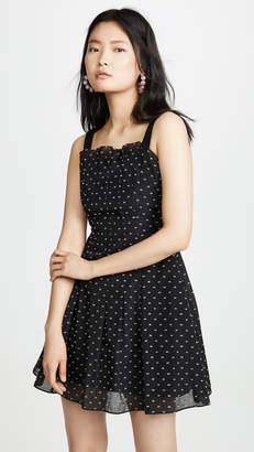 Rebecca Taylor Sleeveless Birdseye Dot Dress