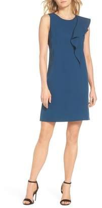 Vince Camuto Ruffle Crepe A-Line Dress