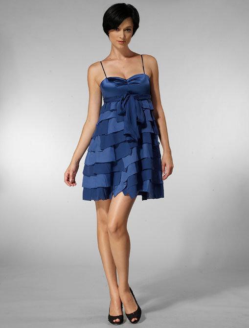 Mint Ruffled Tier Dress in Sapphire