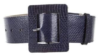 Alice + Olivia Embossed Leather Waist Belt