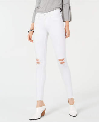 Hudson Jeans Nico Ripped Super-Skinny Ankle Jeans