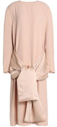 Jil Sander Bow-Embellished Satin-Crepe Midi Dress