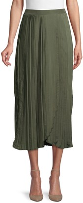Lea & Viola Pleated Midi Skirt