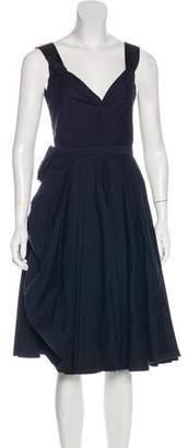 Prada Sleeveless Pouf Midi Dress