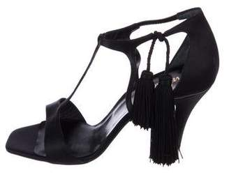Gianni Versace Satin Ankle Strap Sandals