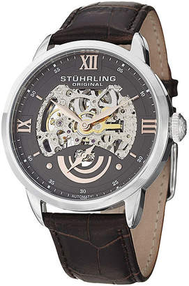 Stuhrling Original Sthrling Original Mens Gray Dial Skeleton Automatic Watch