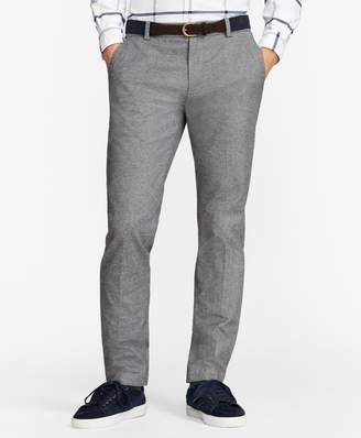 Brooks Brothers Heathered Stretch-Twill Chinos