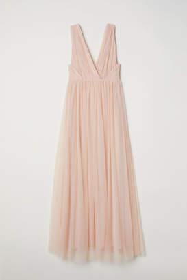 H&M Long Mesh Dress - Orange