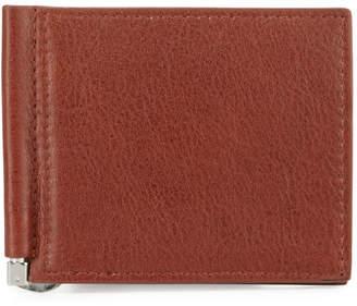 Neiman Marcus Money-Clip Bi-Fold Wallet, Brown