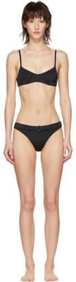 Solid and Striped Black Belt The Rachel Bikini