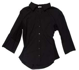 James Perse Bell Sleeve Button-Up Top