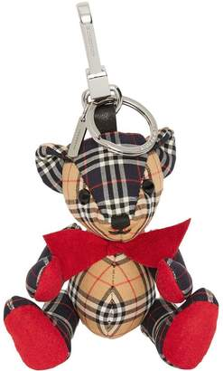Burberry Thomas Bear Charm in Small Scale Check Cotton