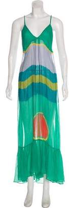 Diane von Furstenberg Silk Sheer Maxi Dress